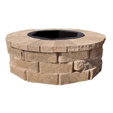 Firepit Reviews Pavestone 40 In W X 14 In H Rockwall Pit Kit
