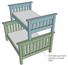 ana white build a twin over full simple bunk bed plans free