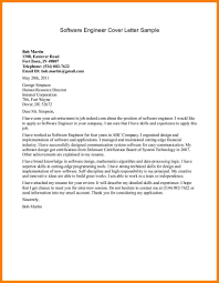 11 cover letter software engineer precis format