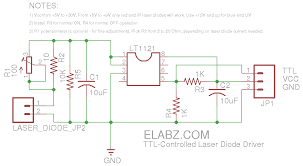 ttl controlled laser diode driver updated schematics