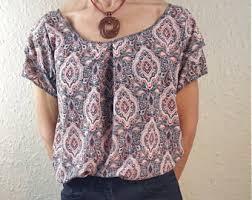 paisley blouse paisley blouse etsy