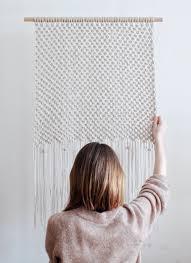 minimalist macrame wall hanging modern macrame wall decor