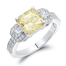 canary engagement ring dtla sterling silver canary yellow cubic zirconia