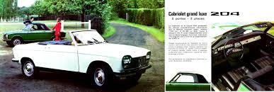 classic peugeot coupe 1970 peugeot 204 coupe u0026 cabrio brochure