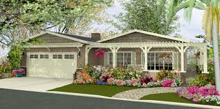 Ranch House With Wrap Around Porch Rendering Pamdesigns