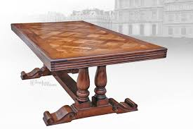 french provincial dining table extension or fixed top timeless