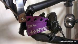 hands on bike hayes caliper alignment tool