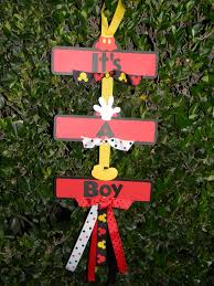 Baby Shower Centerpieces For A Boy by Mickey Mouse Baby Shower Sign It U0027s A Boy Personal I U003c3
