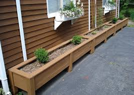 how to make wooden planter boxes waterproof garden design