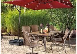 wilson and fisher solar lights solar lights for patio umbrellas comfortable 6 7 feet market