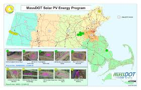 mass pike exits map why there are rows of solar panels beside the mass pike wbur