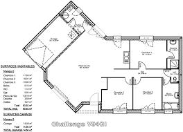 plan de maison en v plain pied 4 chambres v94gi lzzy co