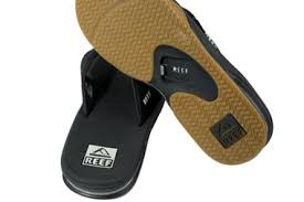 reef fanning flip flops womens reef mens fanning flip flops in black silver with free uk delivery