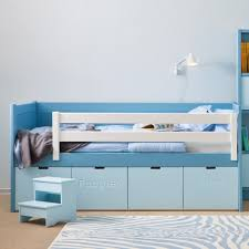 kids bunk beds with storage blue low kids bunk beds with storage