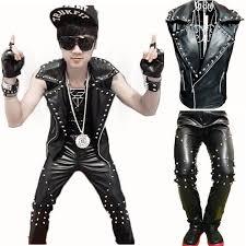Punk Rock Halloween Costume Ideas 2017 Cool Men Gothique Punk Rock Leather Motorcycle Vest