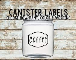 kitchen canister labels canister labels canister decals kitchen canister labels