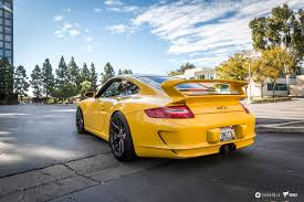 yellow ff porsche 997 narrow wheels rims v ff 101 flow forged wheels