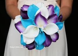 blue and purple wedding turquoise and purple wedding flowers blue wedding flowers