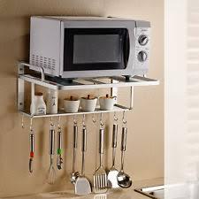 wall mount microwave oven rack bracket stand kitchen shelf storage