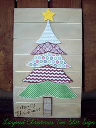 layered christmas tree slat sign the wood connection blog