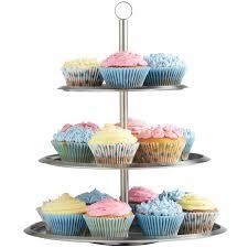 cake tier vonshef 3 tier stainless steel cake stand reviews wayfair