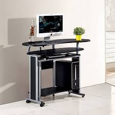 sunteam double desktop computer desk corner desk modern minimalist
