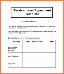 4 customer service level agreement template purchase agreement
