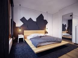 cool unique headboard decor offer scandinavian floating bed style