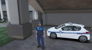 peugeot 206 2016 peugeot 206 police municipale française gta5 mods com