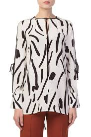 diane furstenberg blouse adrianaonline com sleeved keyhole blouse by diane