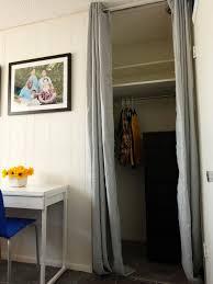 Replace Sliding Closet Doors With Curtains Replacing Bifold Closet Doors With Curtains Home Design Ideas