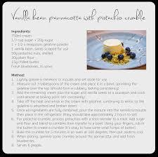recipe vanilla bean pannacotta with blueberries and pistachio
