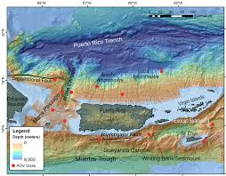 Map Of The Virgin Islands Telepresence Expedition Explores Unknown Deep Sea Areas Off Of
