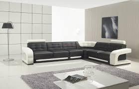 Modern Black Sofas Furniture Cosmo Contemporary Black Leather Corner Sofa With Glass