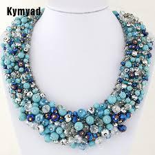 beads necklace handmade images Kymyad choker necklace handmade crystal beads necklaces pendants jpg