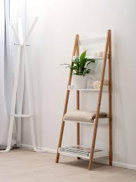 Bathroom Shelf Decorating Ideas by Bathroom Ladder Shelf With Baskets Tall Antique Wood Painters