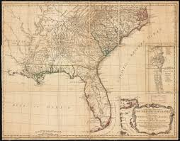 Map Of Florida And Georgia by A General Map Of The Southern British Colonies In America