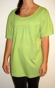 enjoy this elegant cotton tunic top for women in a denum blue