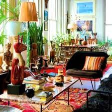 Boho Chic Living Room Ideas by Stunning Creamy Bohemian Style Living Room With Dark Brown Leather
