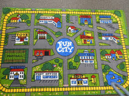 Kids Play Rugs With Roads by Childrens Rug Kids City Town Road Map Village Car Play Mat Wide