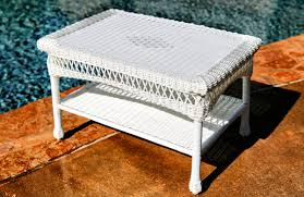 white wicker end table wicker coffee tables tortuga outdoor white