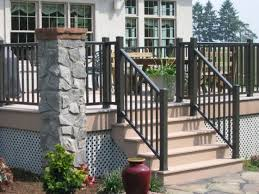 vinyl stair railing home depot a more decor