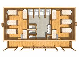 bunkhouse building plans moose lodge bunkhouse camping log cabin main floor dollhouse