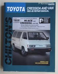 toyota hiace cressida javítási könyv 1983 1990 vatera hu