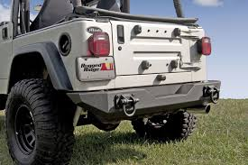 Rugged Ridge Tire Carrier Xhd Rear Bumper 76 06 Jeep Cj U0026 Wrangler