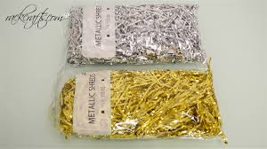 foil shreds foil crinkle paper shreds angel hair metallic gold or silver