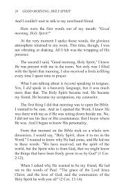 Holy Spirit My Comforter Benny Hinn Good Morning Holy Spirit