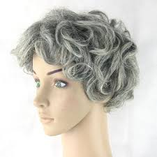 best shoo for gray hair for women hanzi beauty gray hair short women wig black mix white synthetic