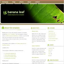 banana leaf free website templates in css html js format for