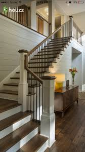 Home Interior Railings Wooden Railing And Metal Spindle Very Clean Look Home Design